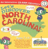 Let's Discover North Carolina CD-ROM, Grades 2-8  - Slightly Imperfect