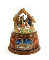 Musical Revolving Nativity Waterglobe