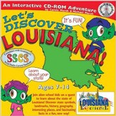 Let's Discover Louisiana CD-ROM, Grades 2-8