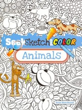 Seek, Sketch and Color - Animals