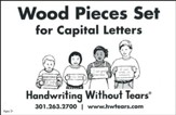 Wood Pieces Set for Capital Letters--Preschool to Grade K