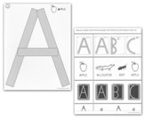 Capital Letter Cards for Wood Pieces (Grades Pre-K & K; Laminated Version)