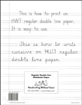 Regular Notebook Paper, 100 Sheets--Grades 2 to 3