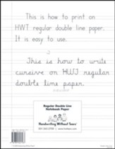 Regular Notebook Paper (500 Sheets;  Grades 2-3)