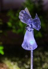 Angel, Rotating and Color Changing Solar Garden Stake