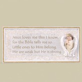 Jesus Loves Me Plaque