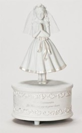 Communion Girl Musical Figurine