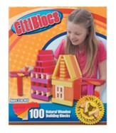 Hot Color Building Blocks, 100 Pieces