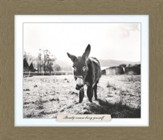 Beauty Means Being Yourself, Donkey Farm, Framed Art