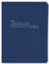 NKJV American Patriot's Bible, Leathersoft, Blue  - Slightly Imperfect