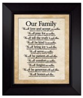 Our Family - Framed Art