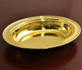 Solid Brass Communion Loaf Server (Round)