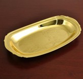 Solid Brass Communion Loaf Server (Oval)
