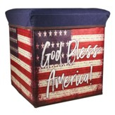 God Bless America, American Flag Collapsible Storage Box