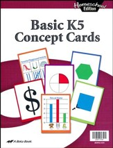 Abeka Homeschool Basic K5 Concept Cards