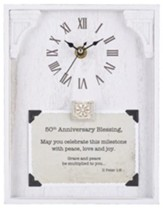 50th Anniversary Blessing, II Peter 1:2, Tabletop Clock