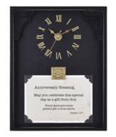 Anniversary Blessing, James 1:17, Tabletop Clock