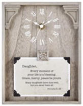 Daughter, Proverbs 31:29, Tabletop Clock