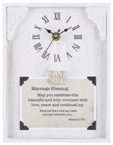 Marriage Blessing, Malachi 2:14, Tabletop Clock