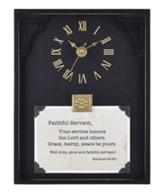 Faithful Servant, Matthew 25:23, Tabletop Clock