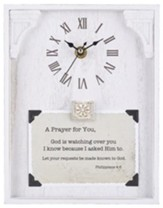 A Prayer for You, Philippians 4:6, Tabletop Clock