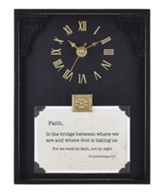 Faith, II Corinthians 5:7, Table top Clock