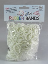 Loom Rubber Bands, 600 Pieces, White