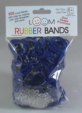 Loom Rubber Bands, 600 Pieces, Navy