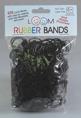 Loom Rubber Bands, 600 Pieces, Black