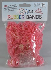 Loom Rubber Bands, 600 Pieces, Pink