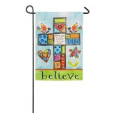 Believe, Thank You God Suede Flag, Small