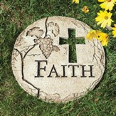 Faith Stepping Stone with Cross