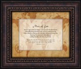 Man of God, You Are Appreciated for Being a Man of God, Framed Art