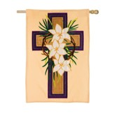Easter Cross Applique Flag, Large