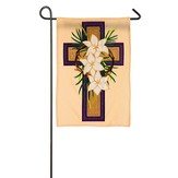 Easter Cross Applique Flag, Small