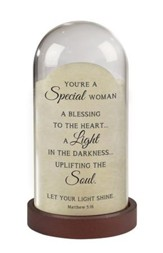 You're A Special Woman, Matthew 5:16, Light Jar
