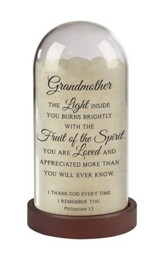 Grandmother, Philippians 1:3, Light Jar