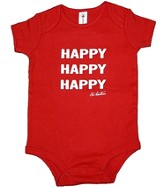 Happy Happy Happy Romper, Red, 6 Months