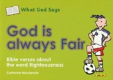 What God Says: God is Always Fair (Righteousness), Coloring Book