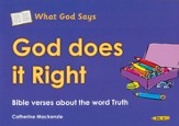 What God Says: God Does It Right (Truth), Coloring Book