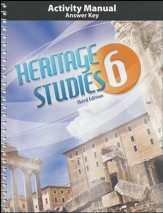 Heritage Studies Grade 6 Student  Activities Key (3rd Edition)