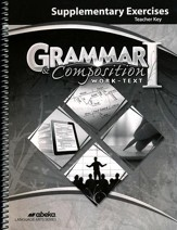 Abeka Grammar/Composition 1 Supplemental Exercises Key