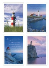 Praying For You, Lighthouses Cards, Box of 12