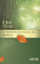 NIV One Year Chronological Bible, softcover  - Slightly Imperfect