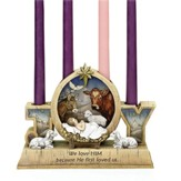 Babe with Animals Advent Candle Holder