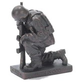 Soldier, Duty, Faith in God, Prayer Figurine