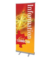 You're Connected Information (31 inch x 79 inch) RollUp Banner