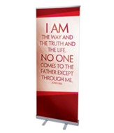 Color Rays John 14:6 (31 inch x 79 inch) RollUp Banner