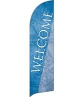 Cross Welcome Flag Banner