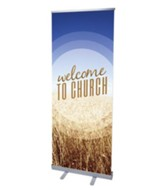 Welcome To Church! Rollup Banner (31 inch x 79 inch)
